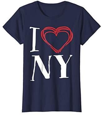 Womens I Love NY   I Love New York T-Shirt Medium
