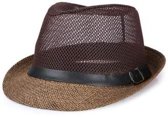cb5478911b Raylans Mens Womens Summer Cool Mesh Fedora Hat Short Brim Sun Cap for Men