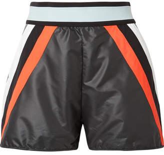 NO KA 'OI NO KA'OI Nohona Hilo Paneled Shell Shorts - Black