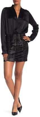 Elie Tahari Abienne Genuine Calf Fur Skirt
