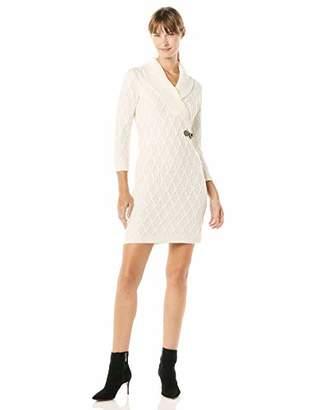 Calvin Klein Women's Long Sleeve Cross Front Sweater Dress