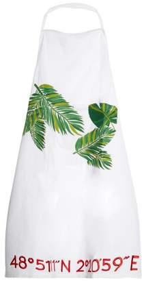 Kilometre Paris - Palm Tree Embroidered Cotton Apron - Womens - White Multi