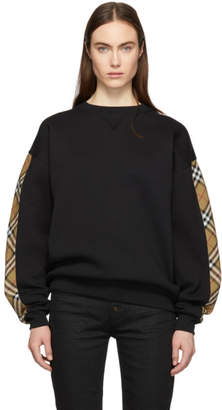 Burberry Black Vintage Check Oversized Sweatshirt