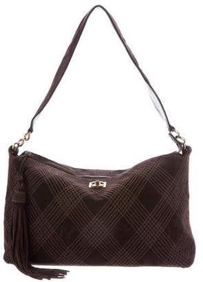 Chanel Quilted Suede Tassel Hobo