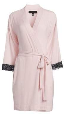 Saks Fifth Avenue COLLECTION Lace-Trimmed Robe
