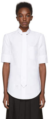 Thom Browne White Necktie Shirt