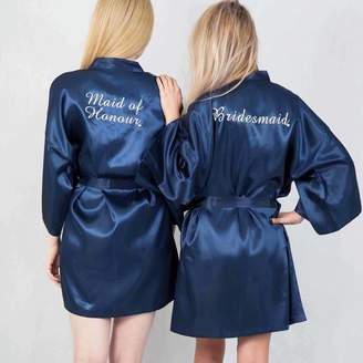 The Little Lovebird Personalised Swirl Dressing Gowns For The Bridal Party 9c3c6d1c9