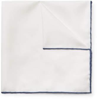 Emma Willis Contrast-Tipped Silk-Twill Pocket Square