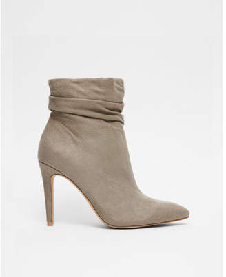 Express slouch thin heel ankle booties