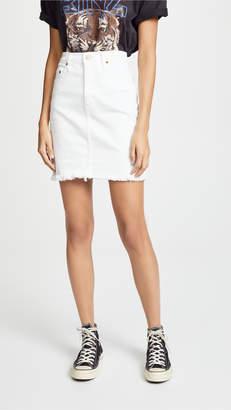 Nobody Denim The Siren High Rise Denim Skirt
