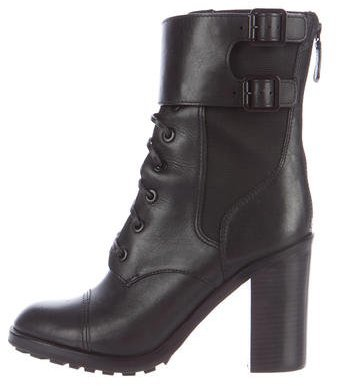 Tory Burch Tory Burch Leather Lace-Up Ankle Boots