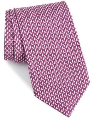 Salvatore Ferragamo Eolo Print Silk Tie
