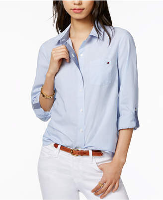 Tommy Hilfiger Cotton Pinstripe Shirt, Only at Macy's $59.50 thestylecure.com