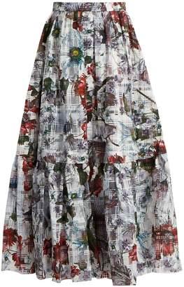 Erdem Leigh Yuki Garden floral-print skirt