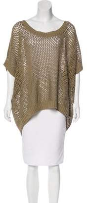 Donna Karan Open-Knit Linen-Blend Sweater