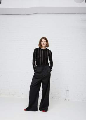 Proenza Schouler Striped Cropped Knit
