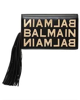 Balmain Logo Leather Pouch