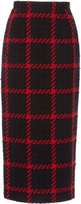 Alessandra Rich Checked Tweed Skirt Size: 38