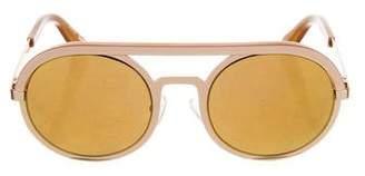 Elizabeth and James Round Reflective Sunglasses