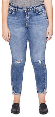 Silver Jeans Avery Distressed Ankle Jeans