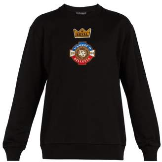 Dolce & Gabbana l'amore e Belleza Cotton Jersey Sweatshirt - Mens - Black