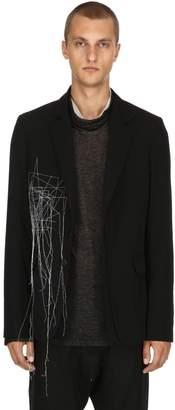 Isabel Benenato Constellation Embroidered Wool Jacket