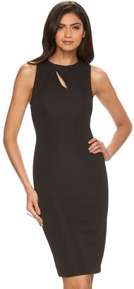 Women's Jennifer Lopez Ribbed Sheath Dress $64 thestylecure.com