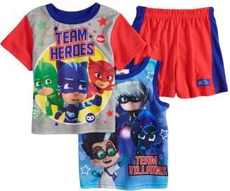 Toddler Boy PJ Masks Catboy, Gekko, Owlet & Villains Tops & Shorts Pajama Set