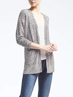 Merino Leopard Print Boyfriend Cardigan $88 thestylecure.com