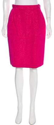 Saint Laurent Vintage Brocade Skirt