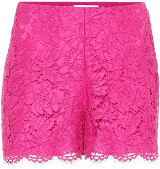 Valentino Floral lace shorts