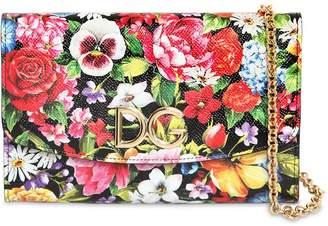 Dolce & Gabbana (ドルチェ & ガッバーナ) - DOLCE & GABBANA ミニ フラワープリントレザーショルダーバッグ