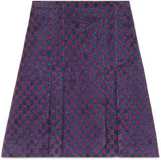 GG lurex pleated mini skirt $1,200 thestylecure.com