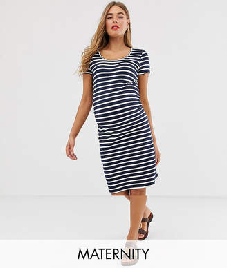660d93d53a Mama Licious Mama.Licious Mamalicious maternity striped short sleeve jersey mini  dress