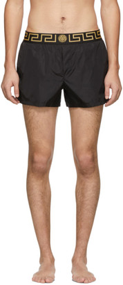 Versace Underwear Black Greca Border Swim Shorts