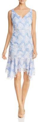Elie Tahari Mariya Embroidered Lace Dress