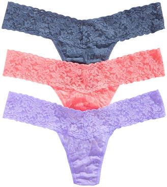 Hanky Panky Women 3-Pk. Low-Rise Lace Thong 49HOLO3