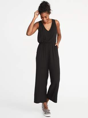 Old Navy Waist-Defined Sleeveless Wide-Leg Jumpsuit for Women