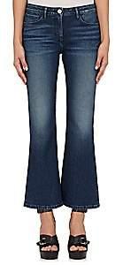 Barneys New York XO 3X1 Women's W25 Mid Rise Crop Baby Boot Jeans - Lt. Blue