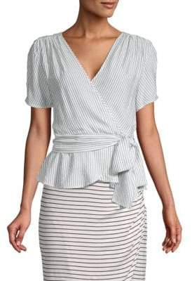 Max Studio Tie-Front Wrap Top
