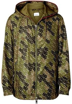 Burberry Monogram Print Nylon Hooded Jacket