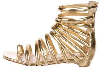 Christian Louboutin Metallic Leather Caged Sandals