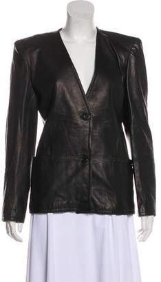 Valentino Leather Casual Jacket