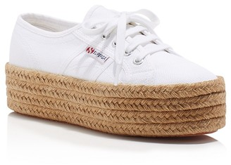 Superga Cotropew Lace Up Platform Espadrille Sneakers $89 thestylecure.com