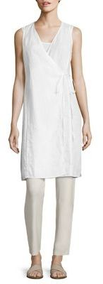 Eileen Fisher Organic Linen Wrap Top $238 thestylecure.com