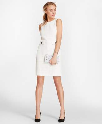 Brooks Brothers Cotton Boucle Shift Dress