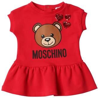 Moschino Printed Cotton Sweatshirt Dress