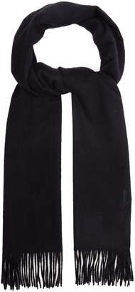 Neil Barrett Lightning bolt-embroidered scarf