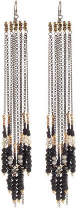 Nakamol Long Chain Beaded Fringe Earrings