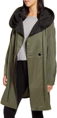Mycra Pac Designer Wear Reversible Pleat Hooded Raincoat
